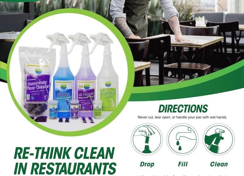 Aqua ChemPacs restaurant kit basic directions 3-1