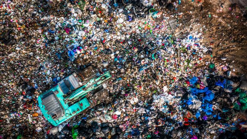 Plastic Bottle in a Landfill   Aqua ChemPacs