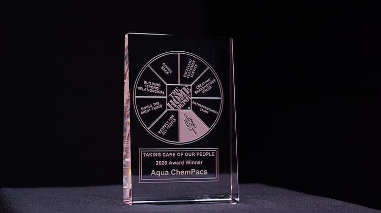 aqua chempacs home depot award taking care of our people