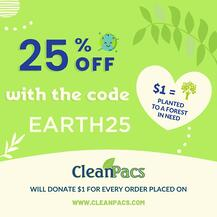 cleanpacs planting trees for earth day