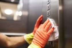 disinfecting elevator buttons | aqua chempacs disinfectant
